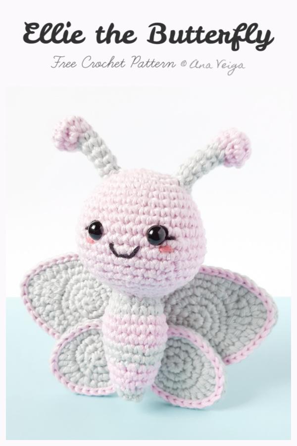 Crochet Ellie the Butterfly Amigurumi Free Patterns