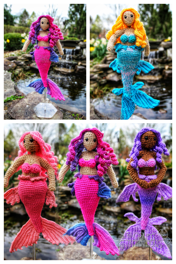 Crochet Curvy Mermaid Doll Amigurumi Patterns