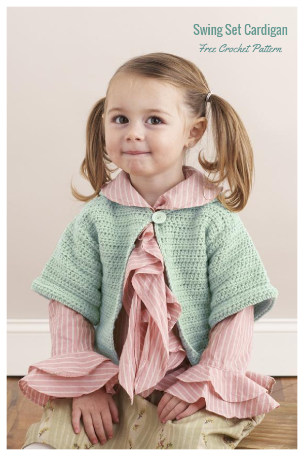 Easy Baby Swing Set Cardigan Free Crochet Patterns