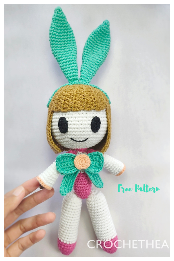 Crochet Bunny Girl Angela Amigurumi Free Patterns