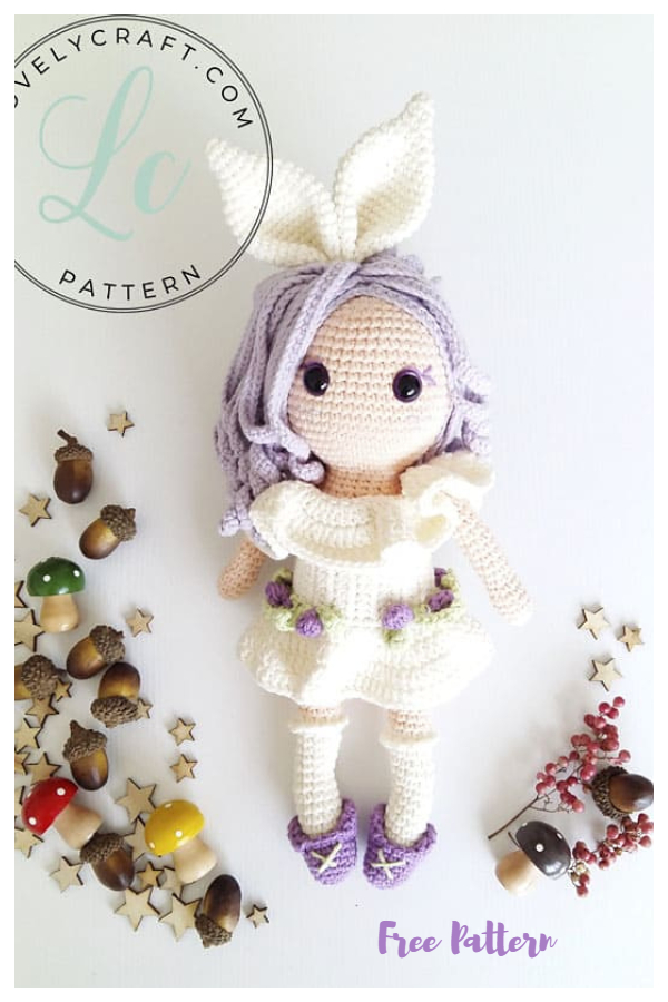 Crochet Rubby Bunny Girl Amigurumi Free Patterns