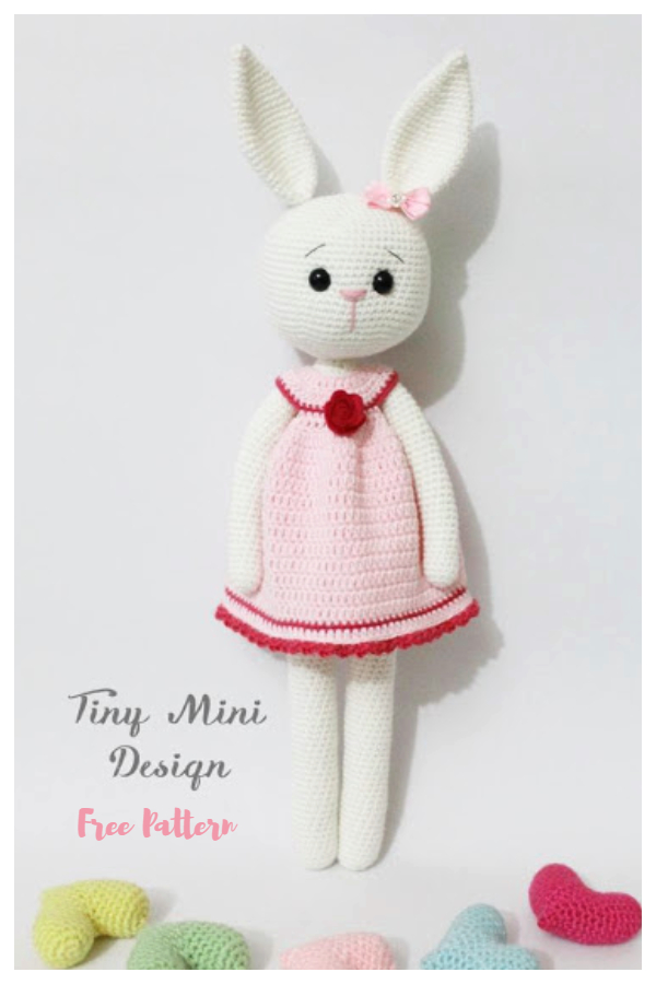 Crochet Crackers Girl Bunny Amigurumi Free Patterns