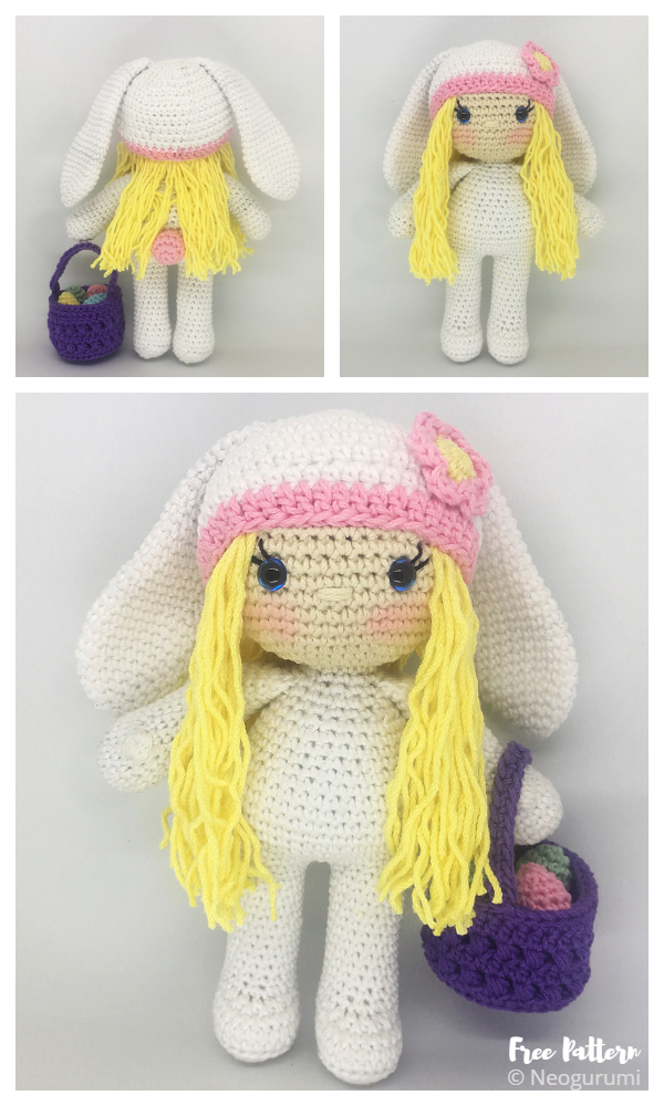 Crochet Bunny Girl Doll Amigurumi Free Patterns