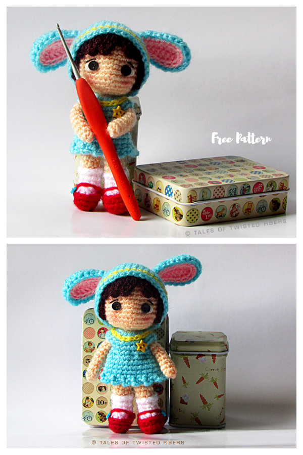 Crochet Cynthia the Little Bunny Girl Amigurumi Free Patterns