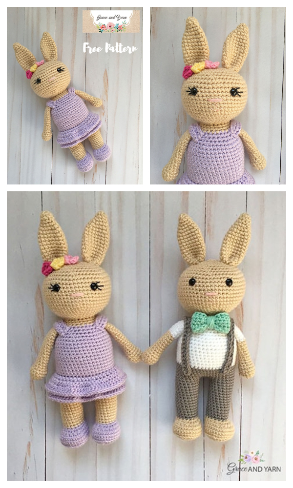 Crochet Berry Patch Bunny Girl Amigurumi Free Patterns