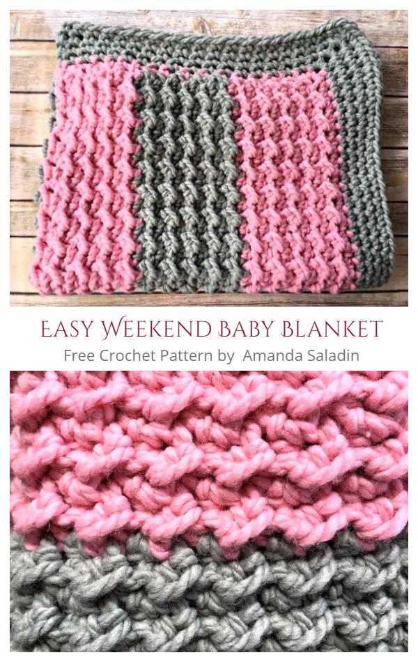 Easy Weekend Baby Blanket Free Crochet Pattern