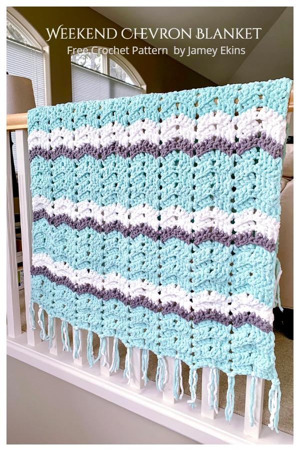 Easy Weekend Chevron Blanket Free Crochet Pattern