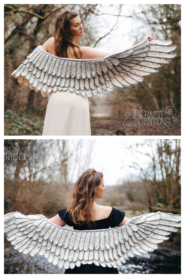 Feather Wings Shawl Crochet Pattern
