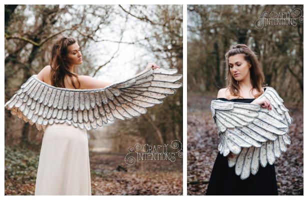 Feather Wings Shawl Crochet Pattern
