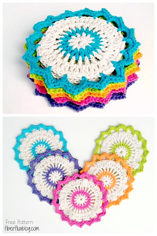 Lotus Bloom Dishcloths Free Crochet Patterns