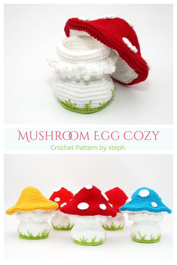 Fun Mushroom Egg Cozy Crochet Patterns