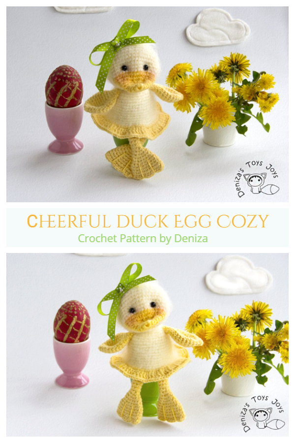 Fun Easter Сheerful Duck Egg Cozy Free Crochet Patterns