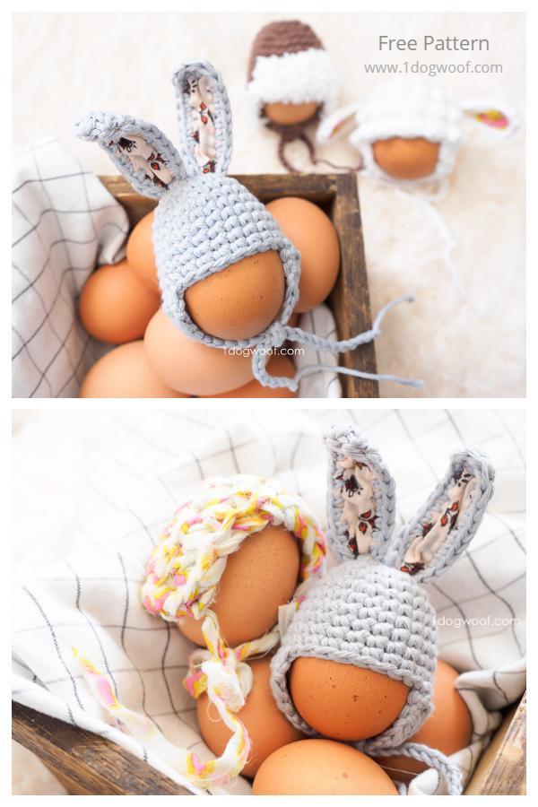 Fun Easter Egg Mini Bunny Hat Free Crochet Patterns