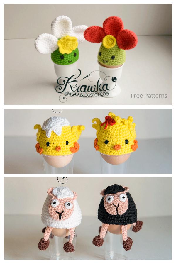 Fun Easter Egg Cozy Free Crochet Patterns