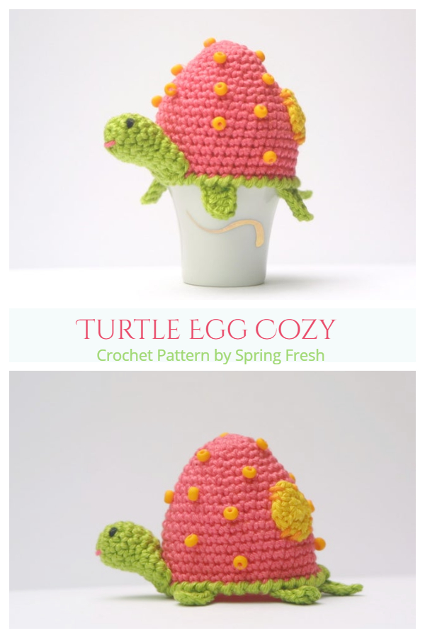 Fun Turtle Egg Cozy Crochet Patterns