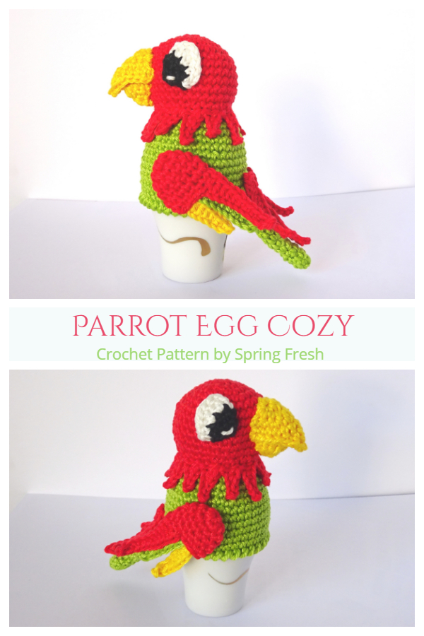 Fun Parrot Egg Cozy Crochet Patterns