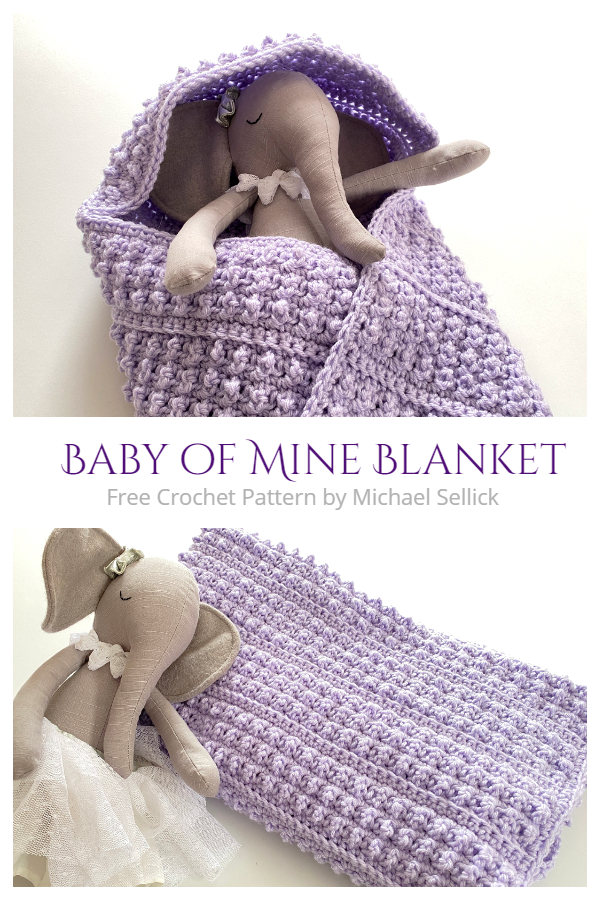 Baby of Mine Hooded Blanket Free Crochet Patterns