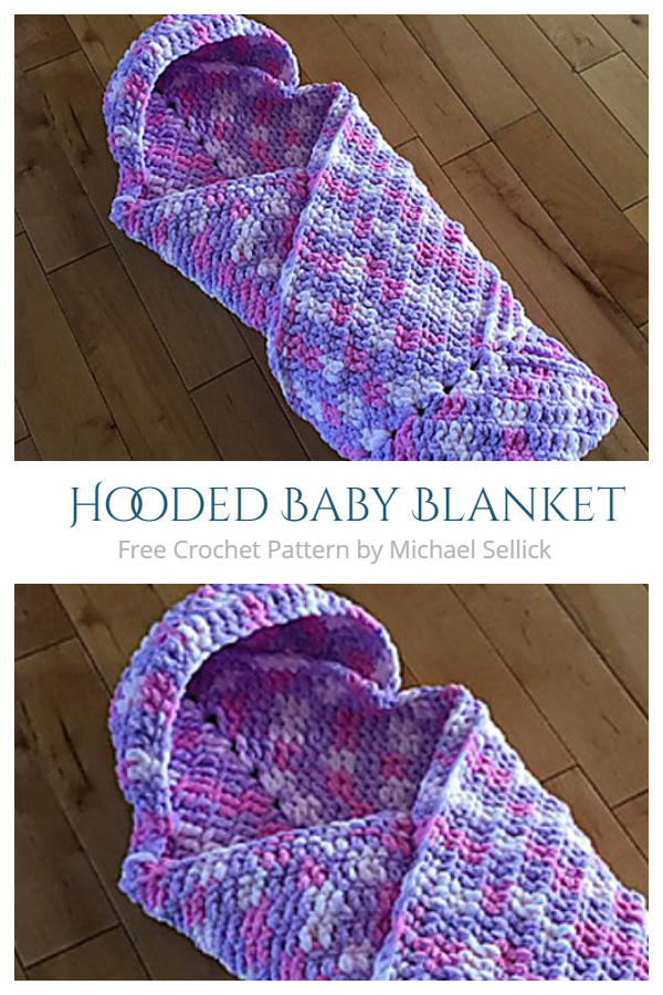 Easy Hooded Blanket Free Crochet Patterns