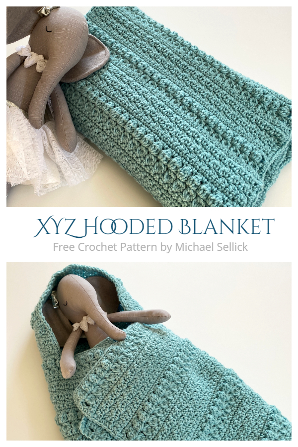 XYZ Hooded Blanket Free Crochet Patterns