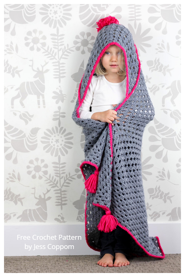 Granny Hooded Blanket Free Crochet Patterns