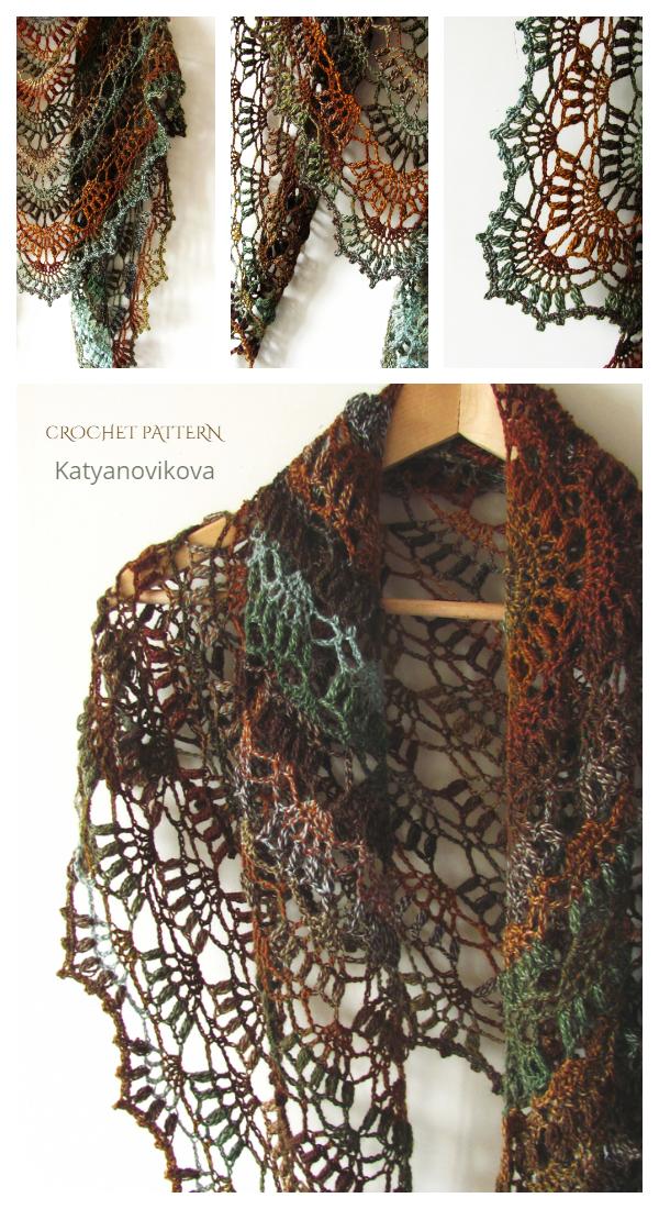 Lace Fall River Shawl Crochet Pattern
