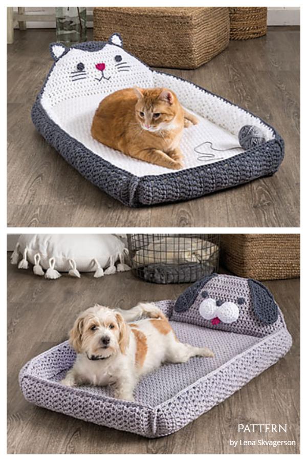 Cat & Dog Beds Crochet Patterns