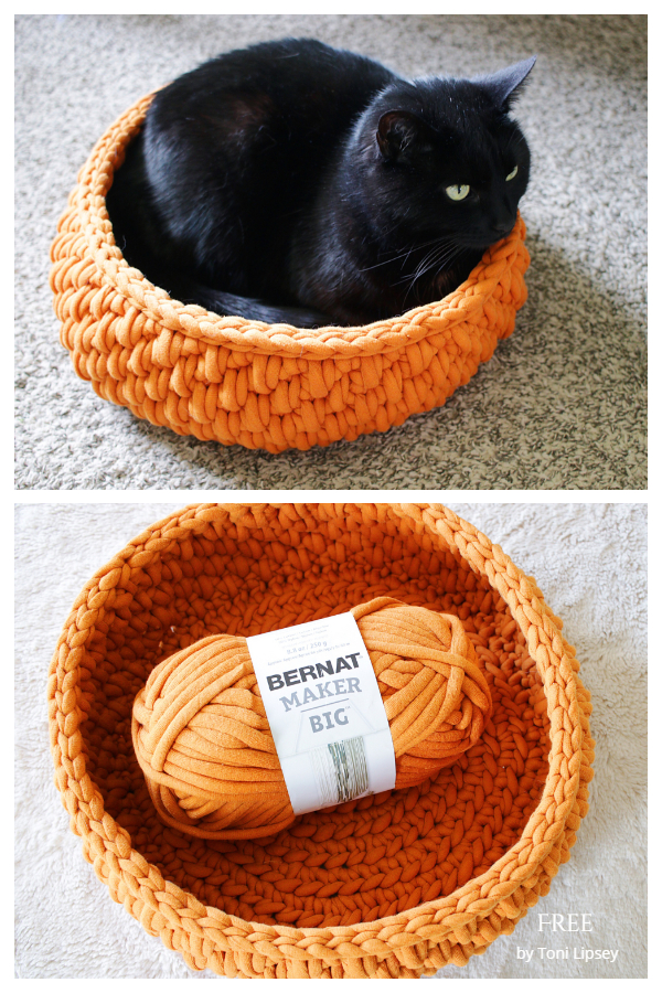Big Little Pet Bed Free Crochet Patterns