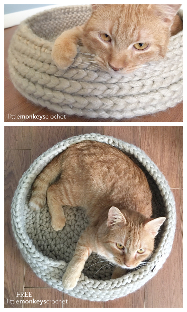 Kitty Bed Pet Bed Free Crochet Patterns