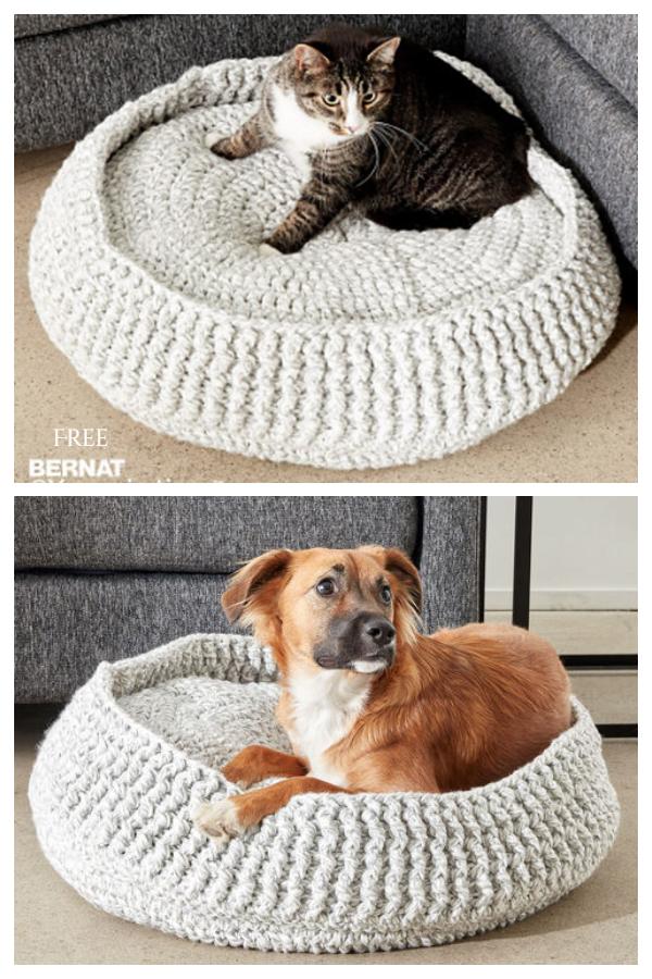 Pet Bed Free Crochet Patterns