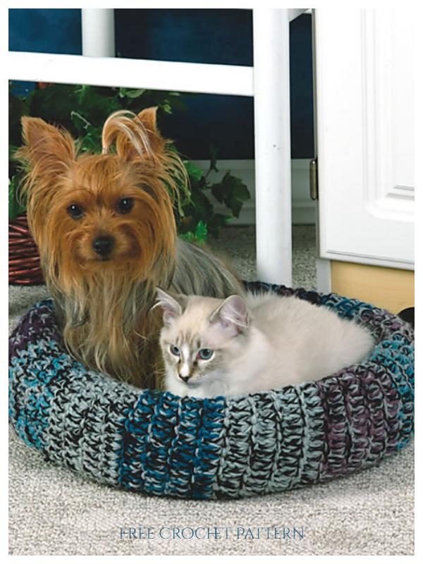 Cozy Pet Bed Free Crochet Patterns