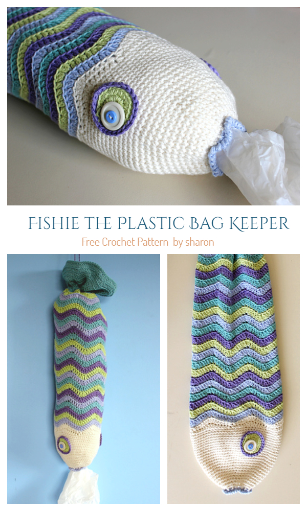 Fishie the Plastic Bag Keeper Free Crochet Patterns