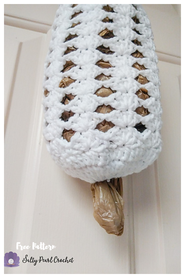Stacked Shells Grocery Bag Sleeve  Free Crochet Patterns
