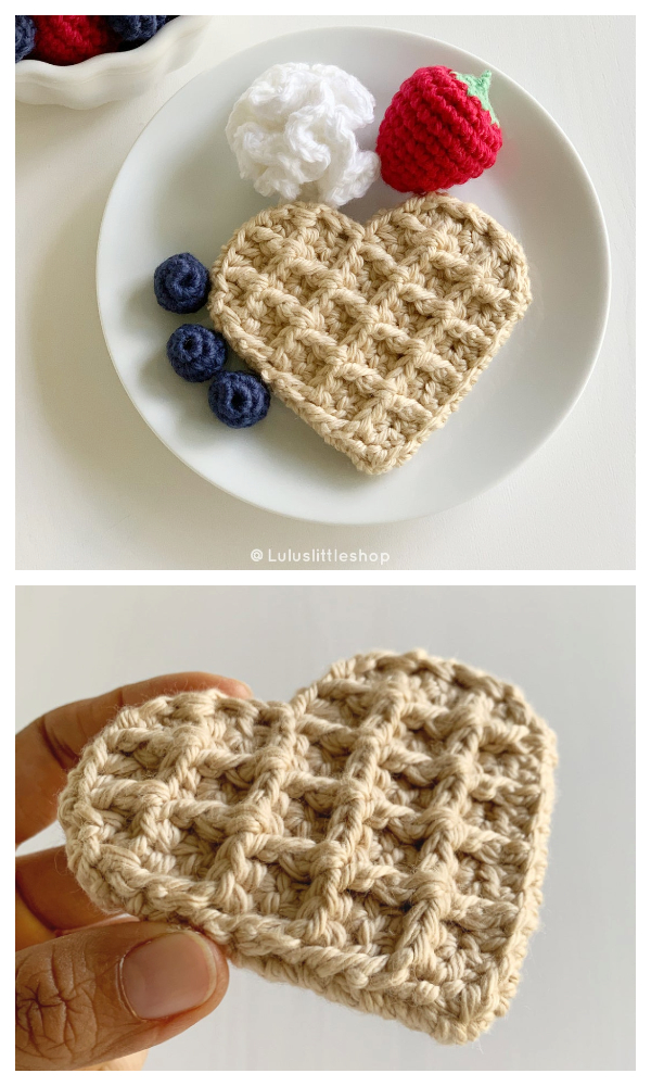 Waffle Heart Crochet Patterns