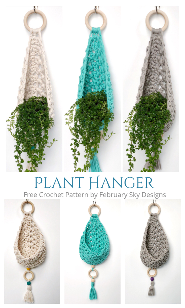 Wall Planter Hanger Free Crochet Patterns