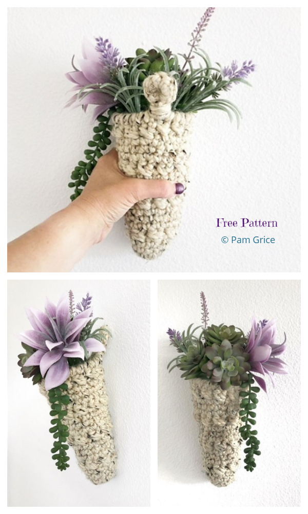 Desert Rose Hanging Planter Free Crochet Patterns
