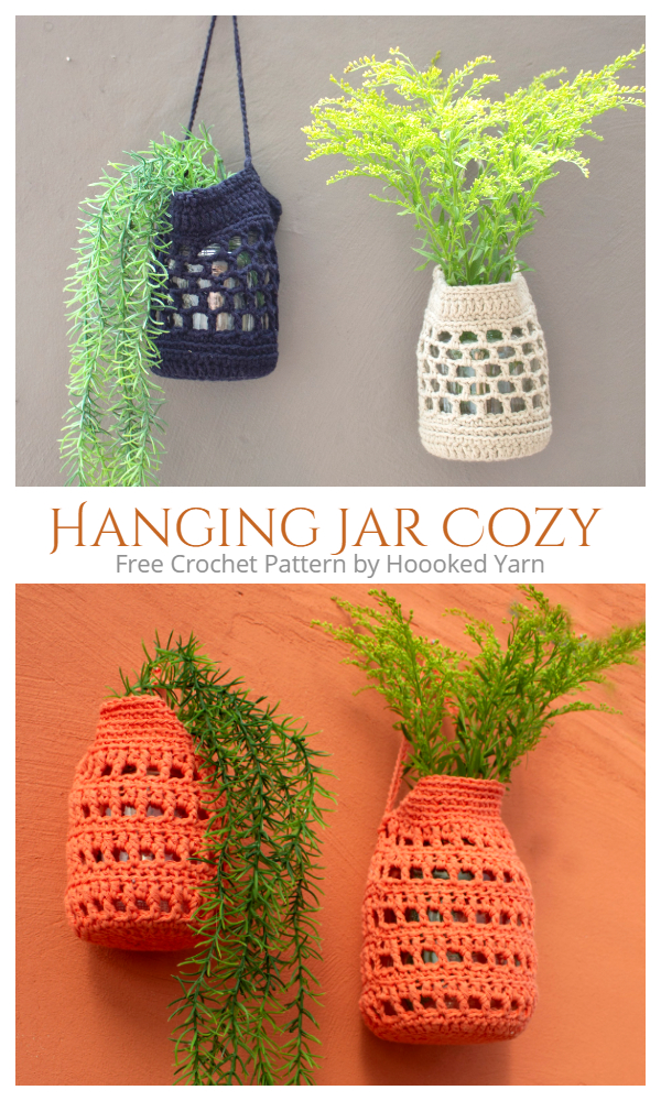 Wall Hanging Jar Cozy  Free Crochet Patterns