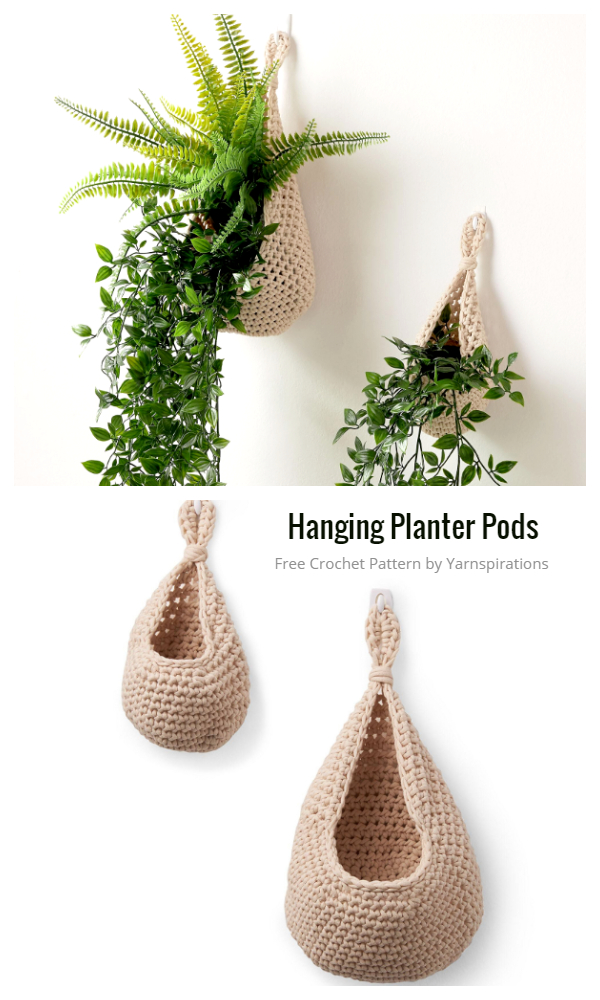 Hanging Planter Pods Cozy Free Crochet Patterns