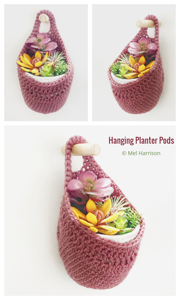 Fleur Hanging Basket Planter Cozy Free Crochet Patterns