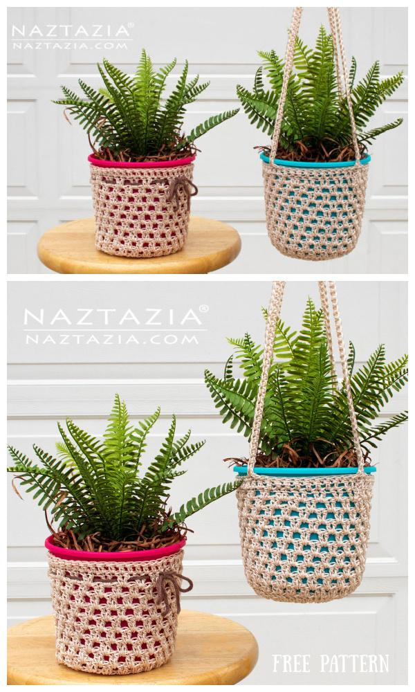 Desert Rose Hanging Planter Free Crochet Patterns