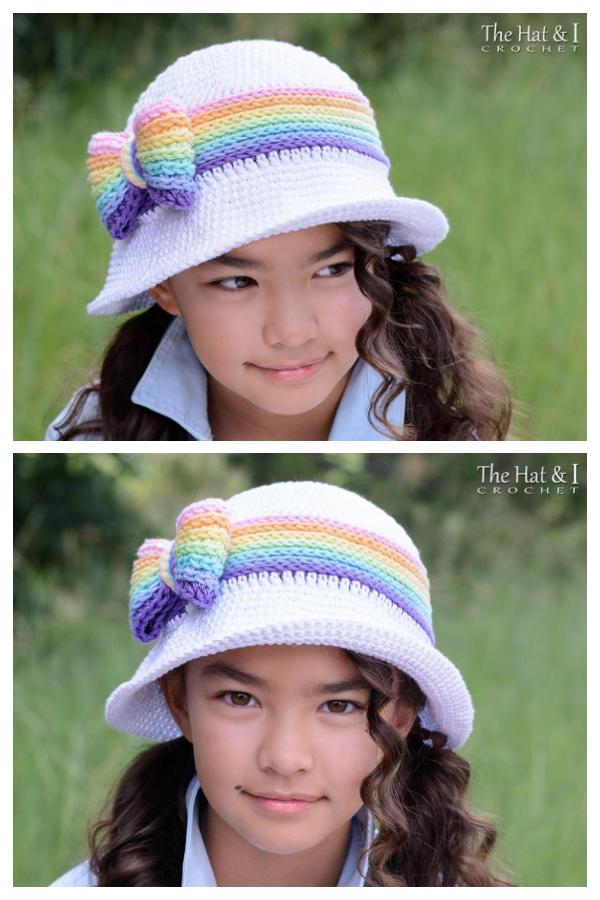 Rainbow Reflections Sun Hat Crochet Pattern