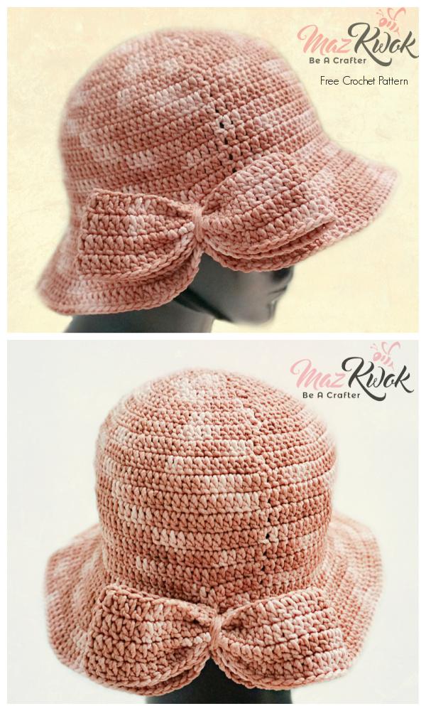 Bow Hat Crochet Pattern + Video
