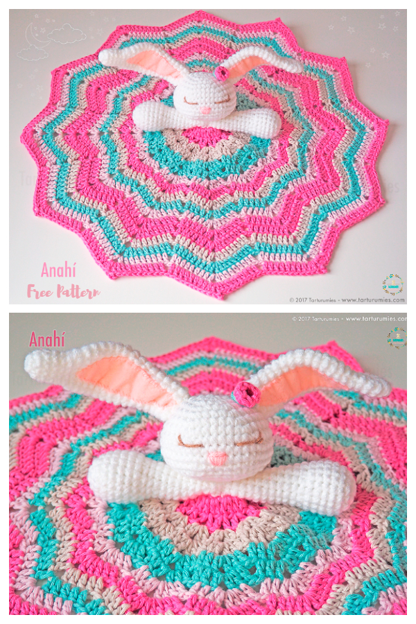 Baby Blanket Bunny Lovey Free Crochet Patterns