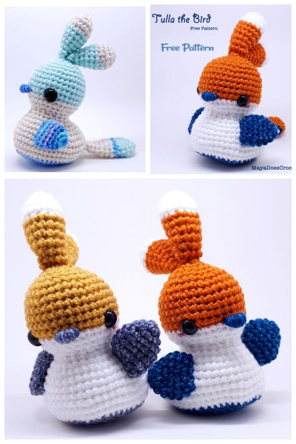 Crochet Tulla the Bird  Amigurumi Free Patterns