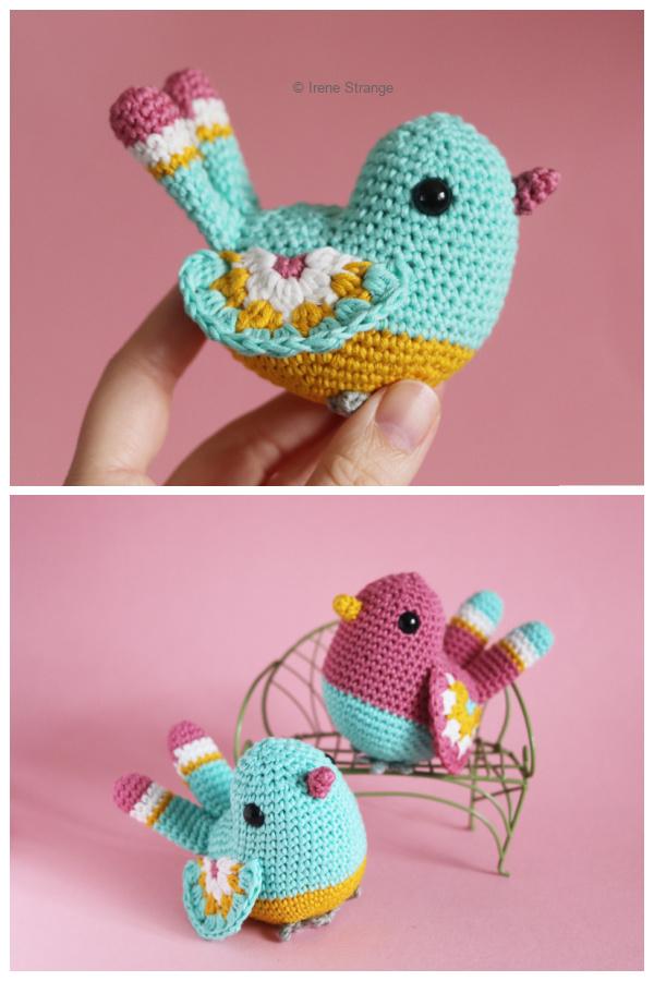 Crochet Spring birds Amigurumi Patterns