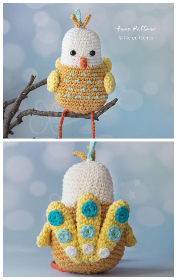 Crochet Tulip the Bird Amigurumi Free Patterns