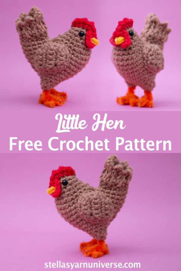 Crochet Little Hen Amigurumi Free Patterns + Video