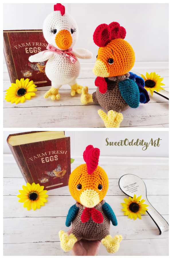 Crochet Rooster Amigurumi Patterns