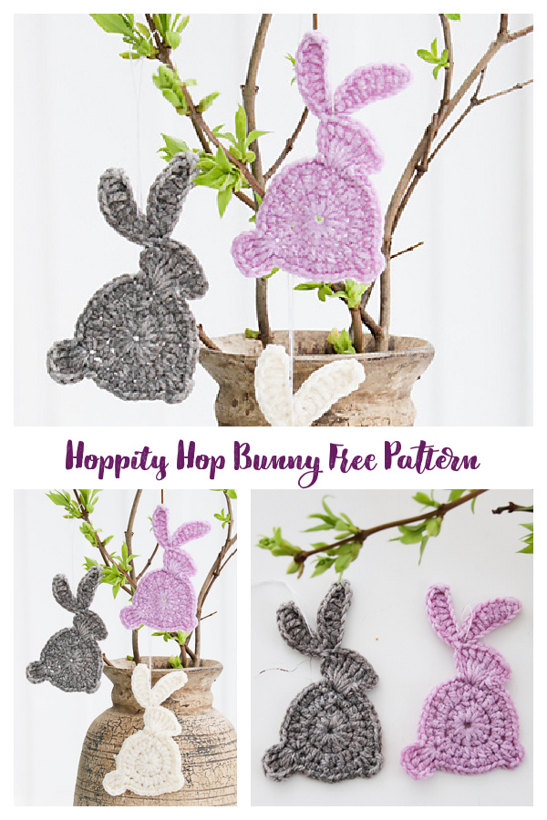 Hoppity Hop Bunny Applique Free Crochet Patterns