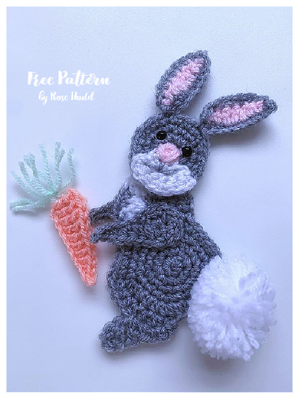 Easter Bunny Applique Free Crochet Patterns