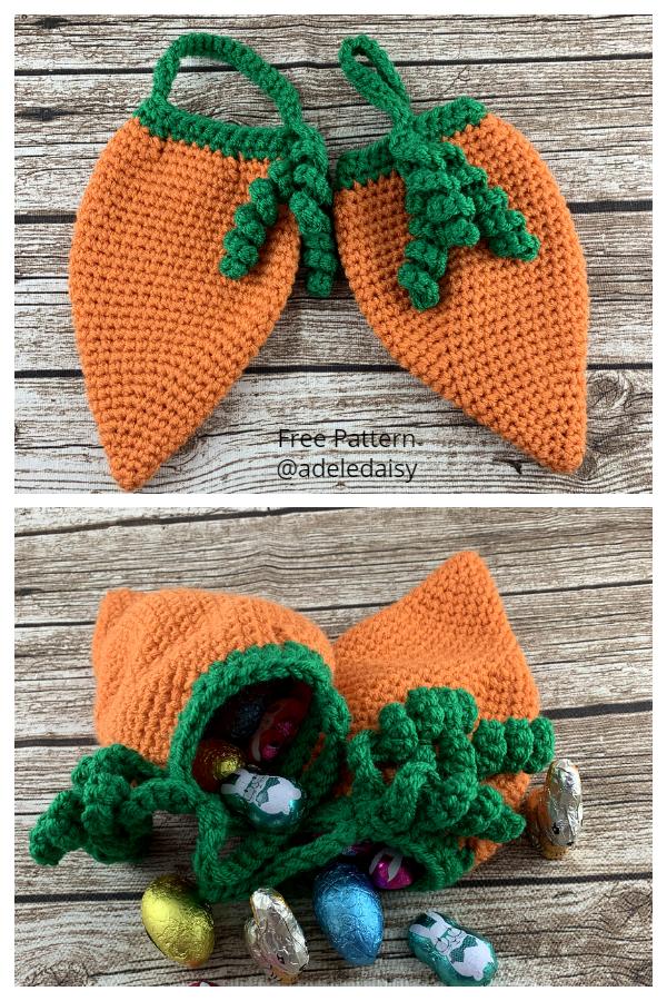 Easter Carrot Bag Free Crochet Patterns